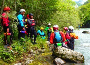 Canoë Kayak – Retour sur le stage de formation aux techniques de sécurité en eau vive.