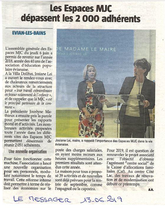 AG Le Messager 13 juin 2019